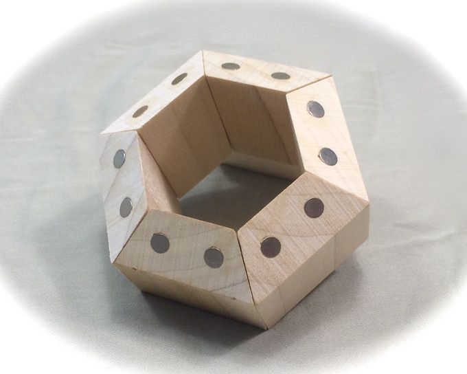 FACETS arranged in a hexagonal prism