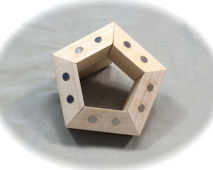 FACETS arranged in a pentagonal prism