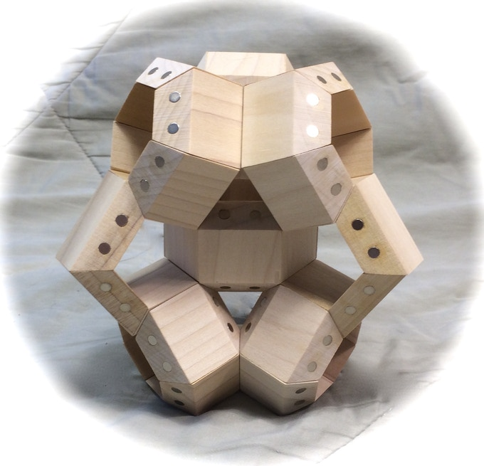 FACETS arranged in an interlinked double tetrahedron