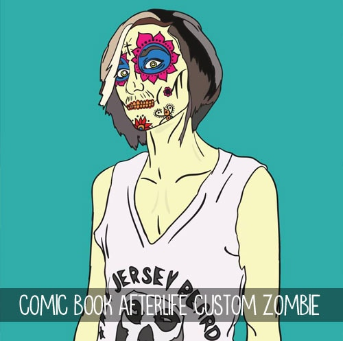 $250 - Comic Book Afterlife Custom Zombie! Turn yourself or someone you love into a pop-art zombie! One custom digital piece and an 11x17 printed copy by Allison Kolarik.