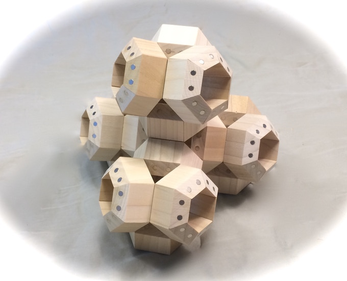 FACETS arranged in tetrahedral atomic structure