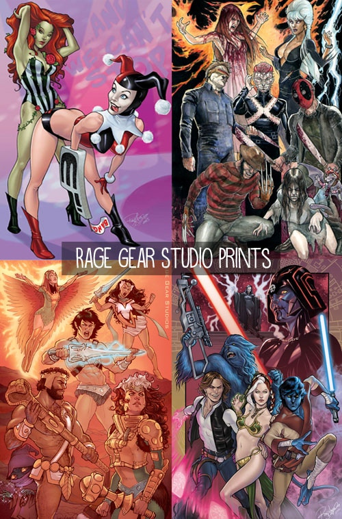 $30/$100 - Pick 1 of 4 amazing mashup prints by Rey Arzeno of Rage Gear Studios! Get all 4 for $100!