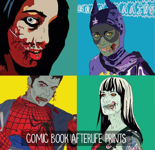 $30/$100 - Pick one of four limited-edition Comic Book Afterlife prints, by Allison Kolarik! Get all 4 for $100!