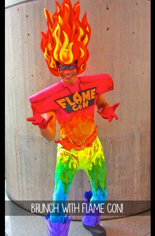 $200 - Have brunch with Flame Con! He's totally real and wants to have eggs bennie with you!