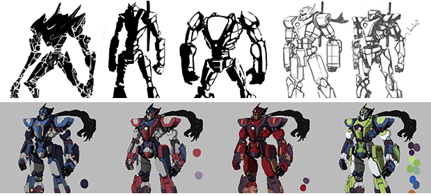 Some early concepts for Watchbot