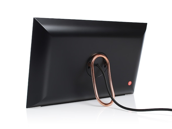 Fireside SmartFrame (Black) - Back View