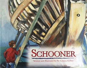 This beautifully illustrated children's book by Pat Lowery Collins about the building of the Schooner Lannon