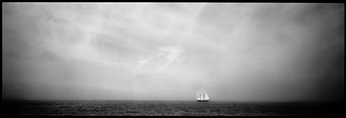 Collectors Print: a limited edition archival photographic print of The Schooner Lannon, printed and signed by award-winning photographer Nubar Alexanian on 100% rag paper, 17 x 47.