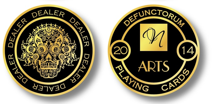 NOX 24K Gold Plated Dealer Coin. D=40mm