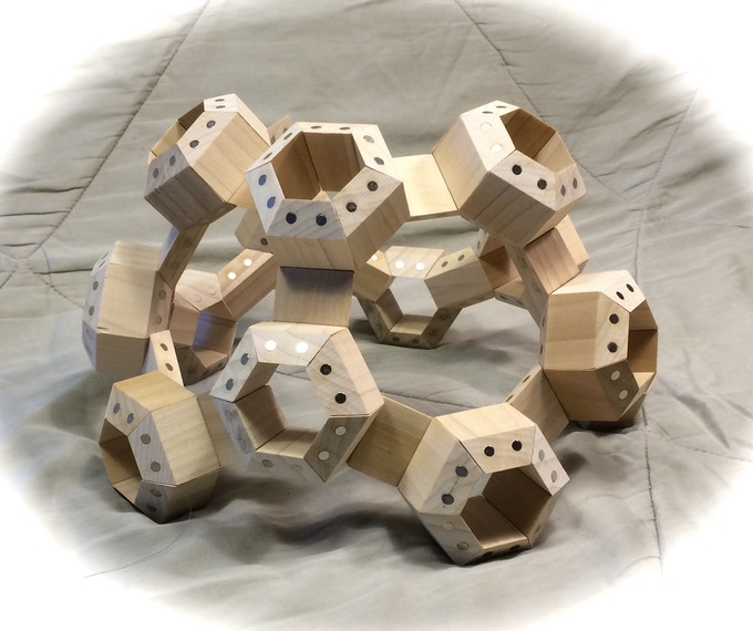Model constructed with 96 HexTetra FACETS.