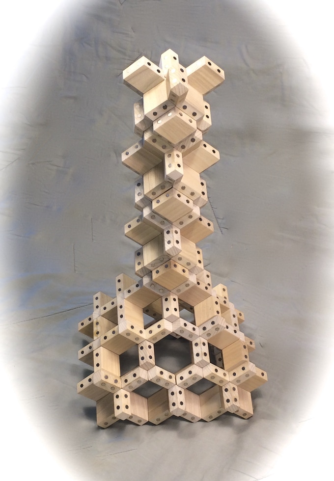 Model tower constructed with Diamond FACETS