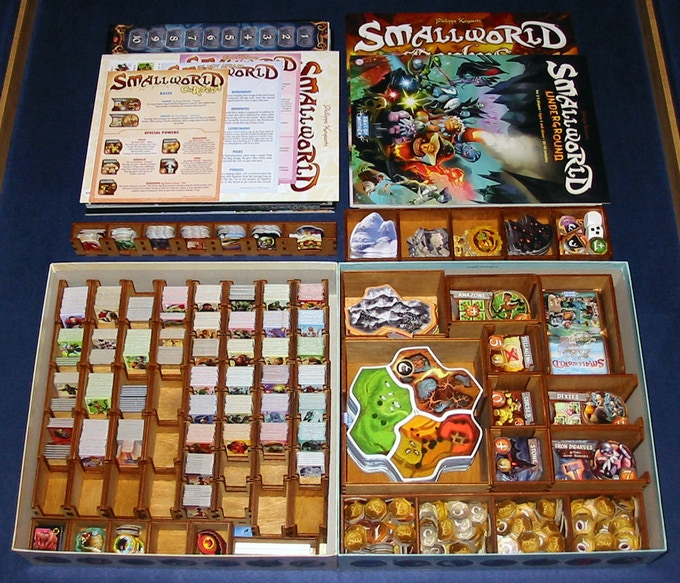 Small World plus Underground (and all current expansions listed above) with Deluxe Storage Set