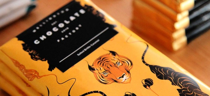 The Salted Caramel Tiger, our most popular bar