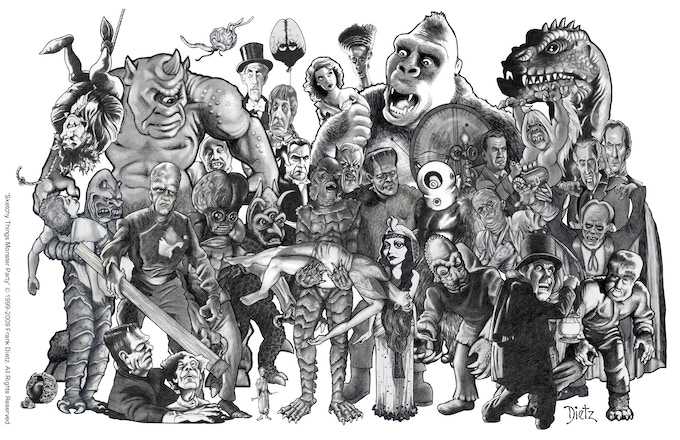 A Parade of Frank Dietz caricatures!