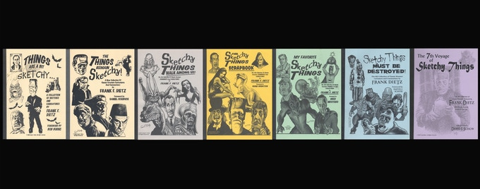 The original 6 Sketchy Things sketchbooks