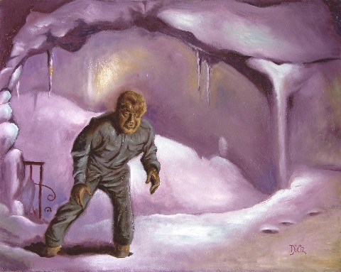 """""""The Ice Cavern"""" oil painting."""