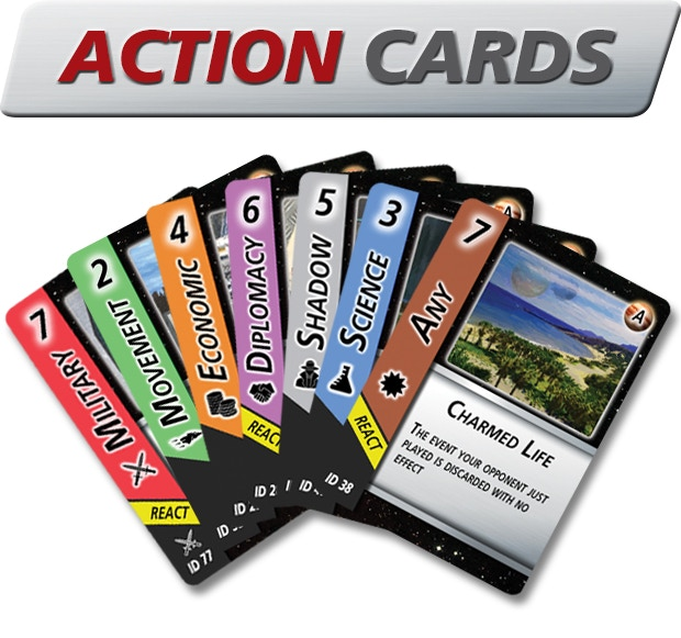 The variety of Action cards available, along with the 'Any' card, which can serve as any Action you wish to partake in the game