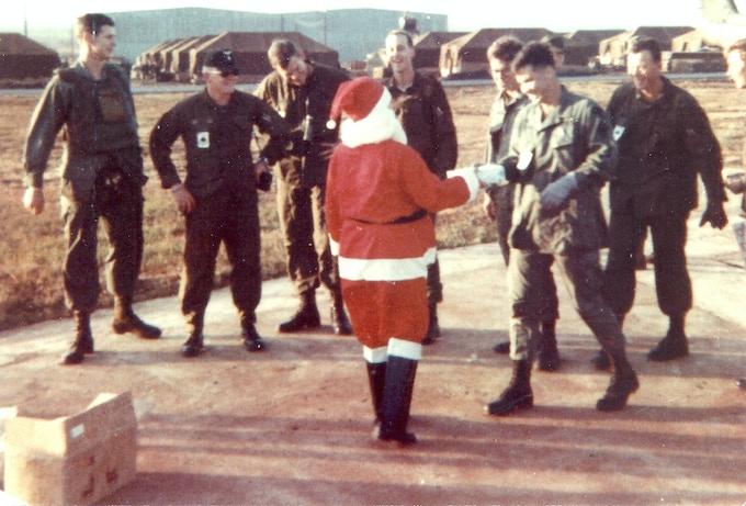 Mary Blanchard Bowe as Santa Claus, Christmas 1968