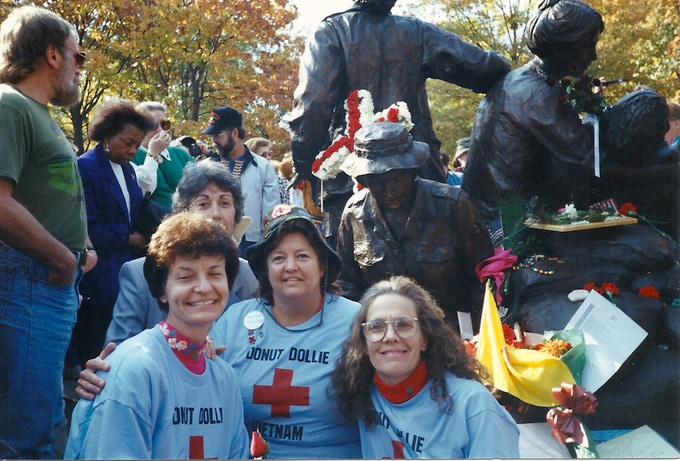 Susan Pullam Froseth, Nicki Rosha Johnson, Mary Blanchard Bowe and Dorset Hoogland Anderson at the 1993 Vietnam Women's Memorial Dedication in Washington DC