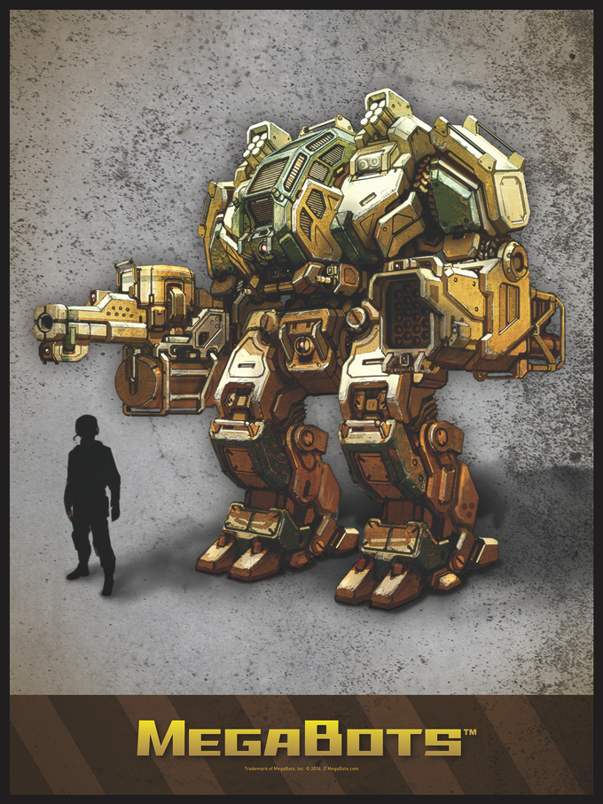 Poster #1: To-Scale Concept Art of a MegaBot, by Alex Iglesias