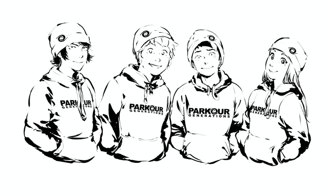 Exclusive Parkour Generation Hoodie Designed from Mangatellers