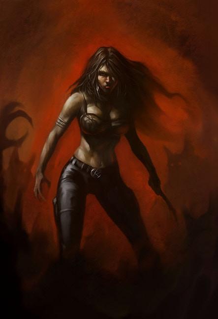 Rhea, an ancient Death Goddess of Werewolves