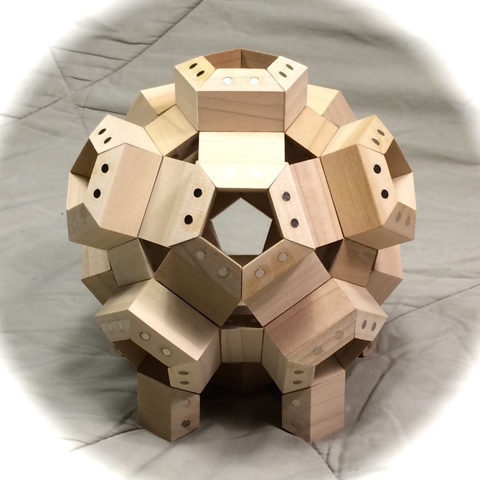 FACETS arranged in a rhombicosidodecahedron