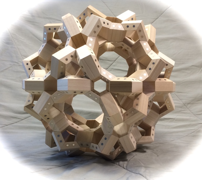 FACETS arranged in a Geodesic Sphere