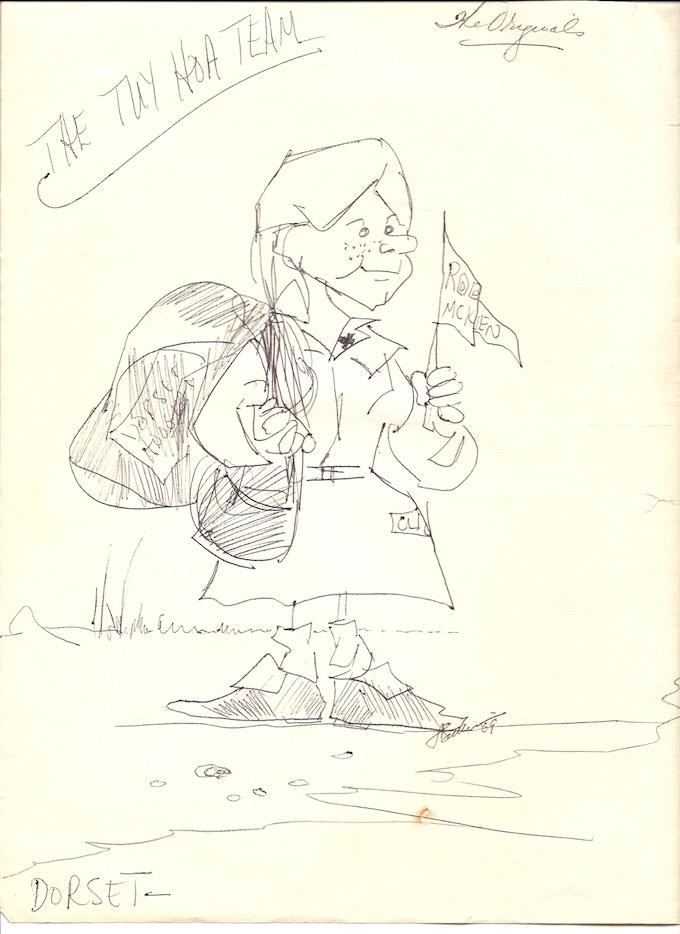 A Sketch of Donut Dollie Dorset by Donut Dollie Linda Sullivan