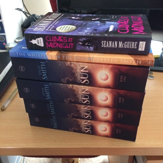 All my books are 5 by 8, for the sake of scale, Chimes at Midnight is a standard-sized American trade paperback
