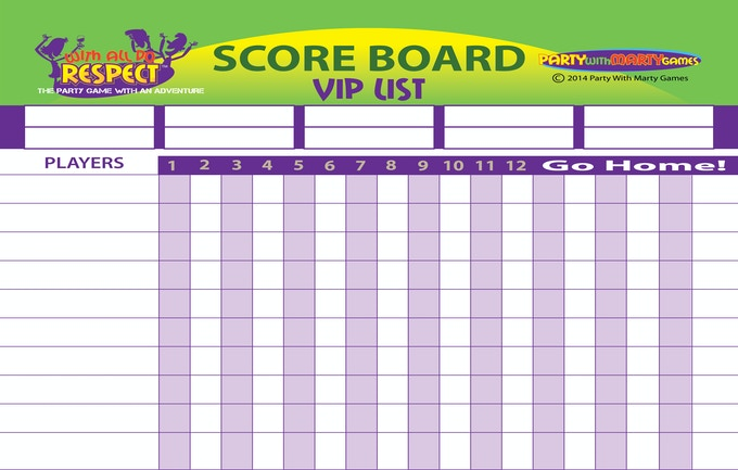 With All Do Respect - Vip List & Score Board