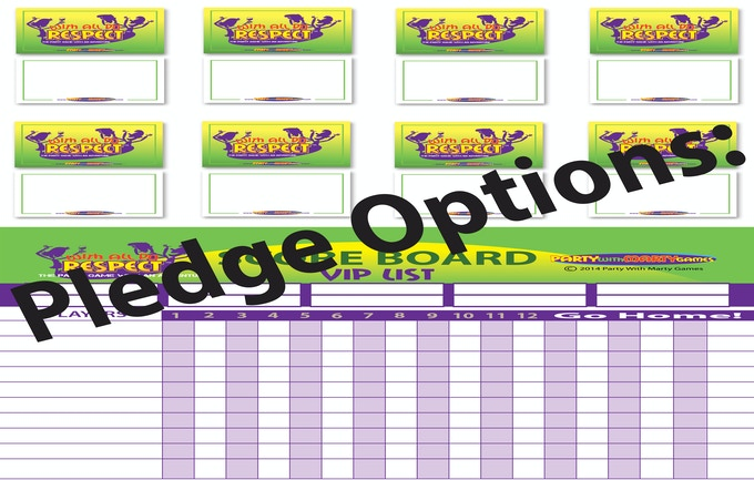 With All Do Respect - 8 Dry-Erase Boards, 8 Dry-Erase Pens, 1 Dry-Erase Vip List & Score Board