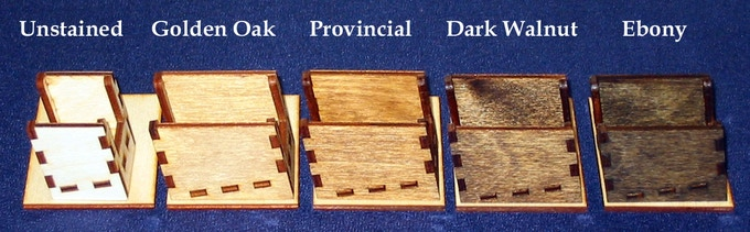 Examples of Stained and Unstained Race Token Holders