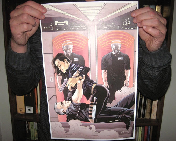 One of our perks is a 11x17 print that will be autographed by DC/Marvel legend Paul Gulacy