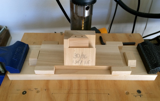 Drill jig for the placement of magnets in prototype FACETS