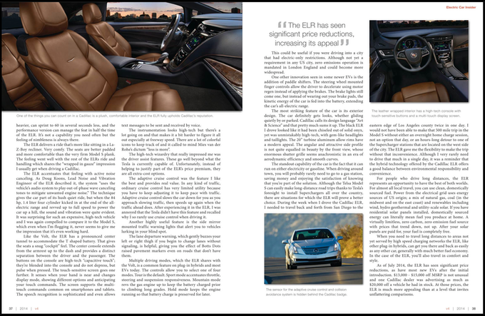Cadillac ELR Review pg. 3-4