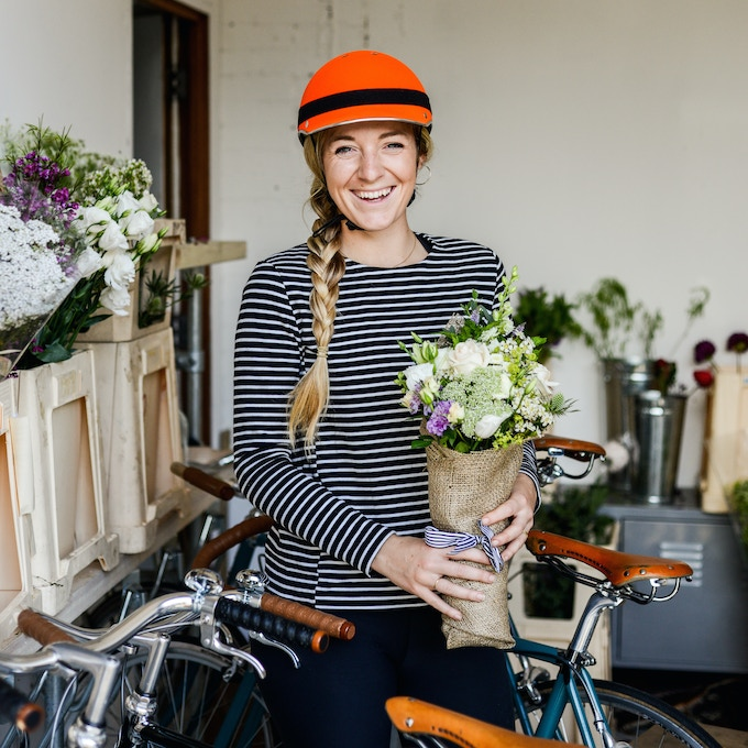 Florence founder of Petalon: Bouquets by bicycle