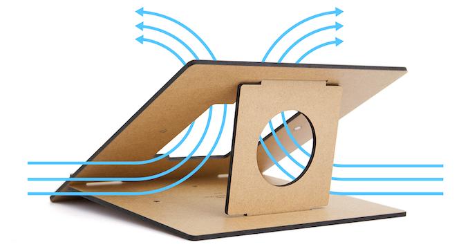Flio improves the airflow around your laptop