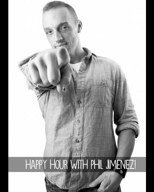 $200 - Happy Hour with comics superstar Phil Jimenez! Talk shop, hear insider tales, or just enjoy an evening getting to know this LGBT comics trailblazer. (Price includes three drinks and snacks for you and Phil at a Manhattan establishment, TBA).
