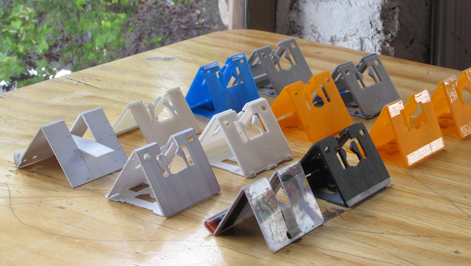 These are some of the prototypes made in the process