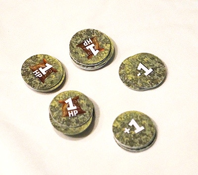 24x Harvest Point Tokens, 10x +1/-1 Tokens