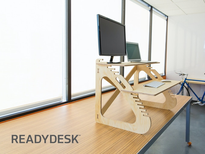 Readydesk Ultra Affordable Dual Adjule Standing Desk