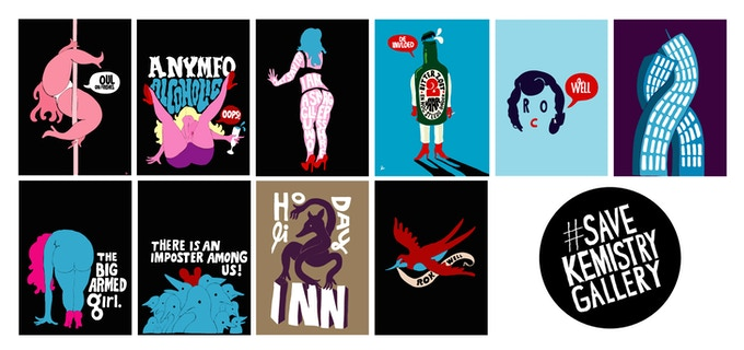 And we couldn't do an exhibition without including Parra too (his first ever gallery show was at Kemistry)