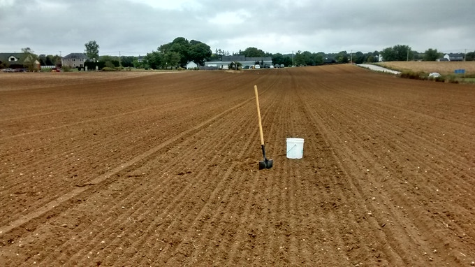 Our barley field gets a soil test