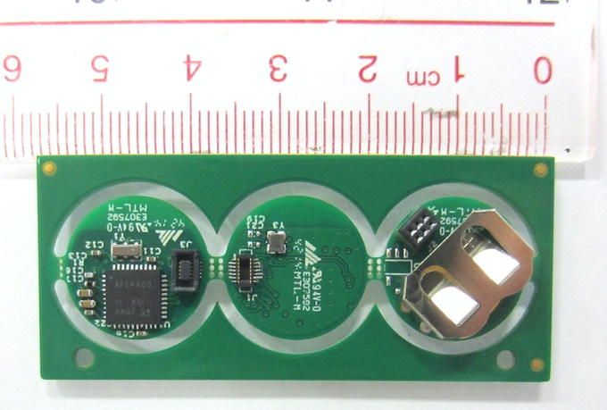 Size of PCBs. Less than Dime