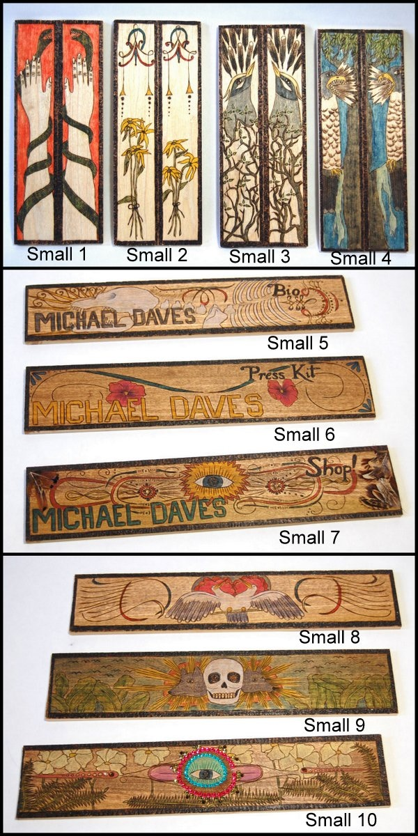 Woodburning images - small