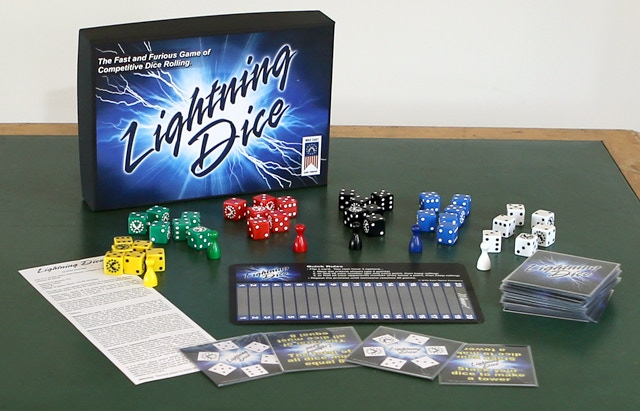 This is one of the prototypes for Lightning Dice. (Prototype 2)