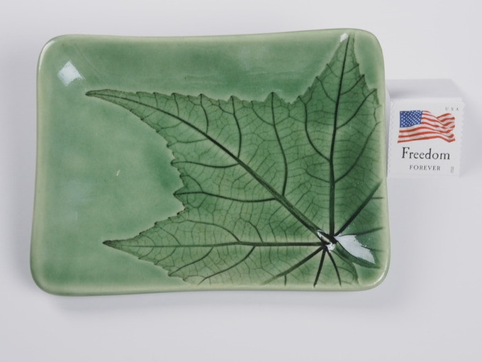 "Reward #4 - Small 4"" x 3"" Leaf Dish (above) - $16 + Shipping"
