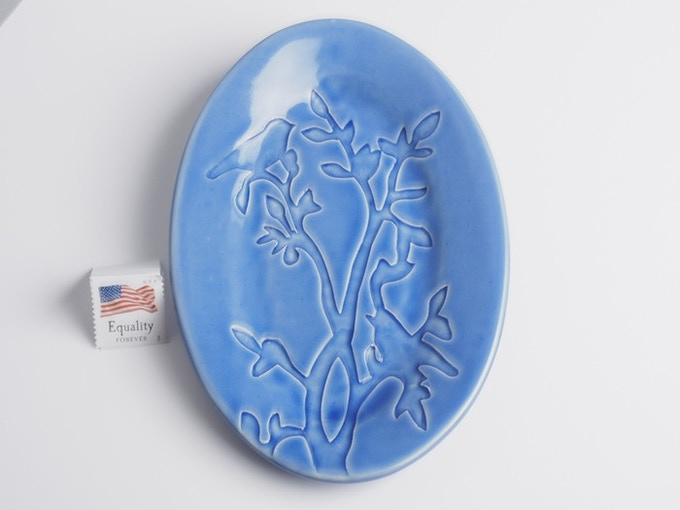 "Reward #5 - Small oval dish 6"" x 4"" (above) - $20 + Shipping"