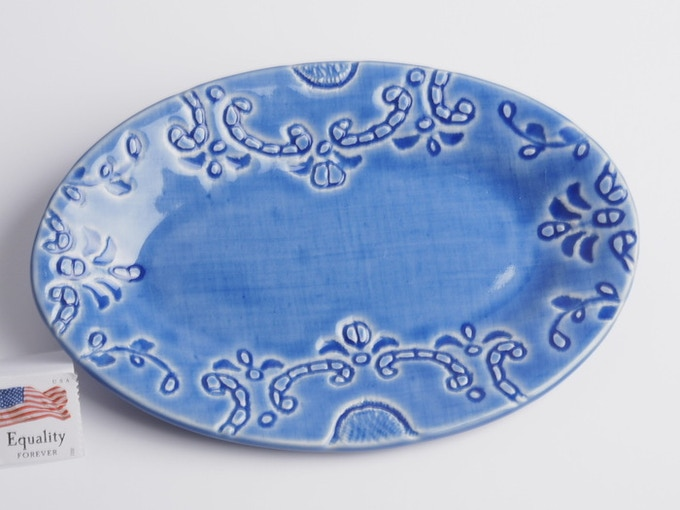 "Reward #7 - Small oval dish 6"" x 4"" (above) - $22 + Shipping"